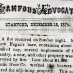 December 18, 1874 – Meadow Street Barn Fire