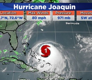 Gov. Malloy says State is monitoring forecast for hurricane  Joaquin, Advises residents to be prepared for possible severe weather.